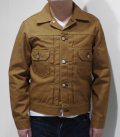 SUGAR CANE 13oz. BROWN DUCK JACKET