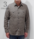 SUGAR CANE TWILL CHECK WORK SHIRT