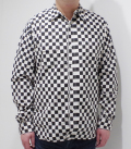 SUGAR CANE 4.5oz CHECKER PRINT SHIRT