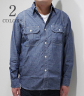 SUGARCANE 5oz. CHAMBRAY WORK SHIRT