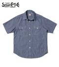 SUGAR CANE シュガーケーン 半袖|シャンブレー|ワークシャツ『BLUE CHAMBRAY WORK SHIRT』【アメカジ・ワーク】SC37941