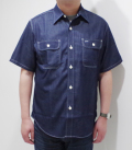 SUGAR CANE COLORED DENIM WORK SHIRT