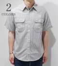 SUGAR CANE HICKORY STRIPE WORK SHIRT