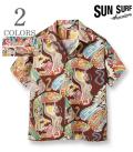(予約商品) SUN SURF サンサーフ SPECIAL EDITION ALOHA SHIRT '21Model 『MACINTOSH MENU』【アロハ・洋柄】SS38676-pre