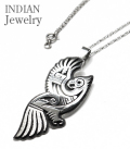 INDIAN JEWELRY HOPI PENDANT TOP EAGLE