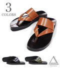 NAGARA COVER STRAP LEATHER SANDLES