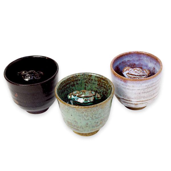 教訓茶碗 (黒・緑・白)