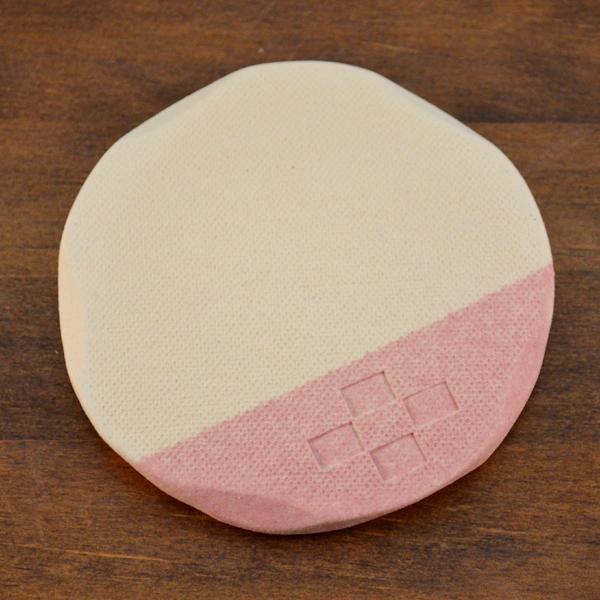 陶器のコースター/ピンク