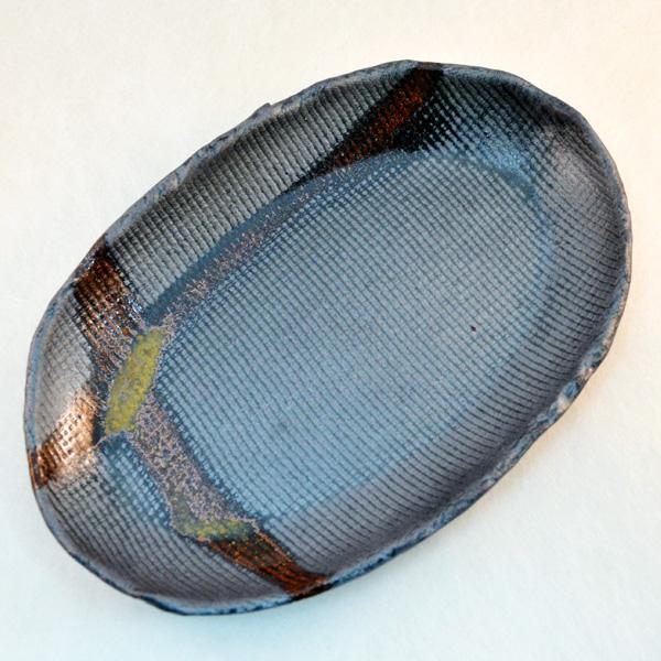 楕円皿 #01 青烽窯