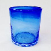 琉球ガラス/ロックグラス 青