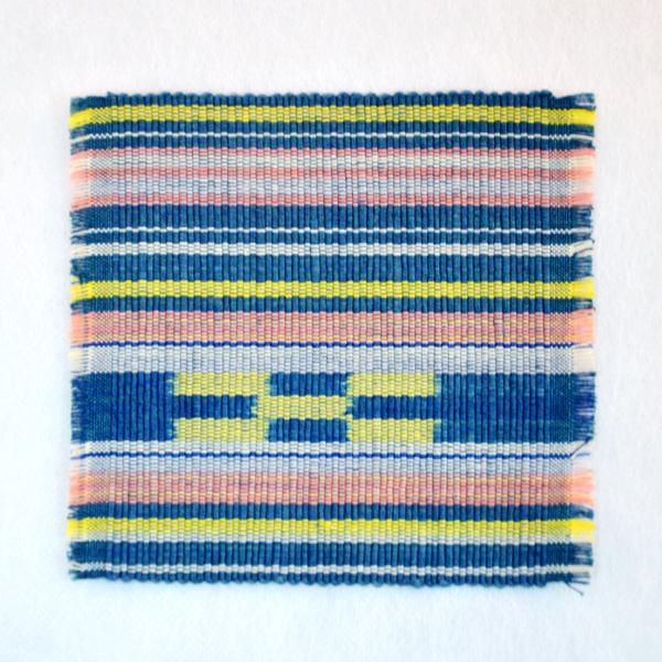 草木染め手織ミンサーコースター #06