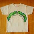HAPPAJIRUSHIの手描きTシャツ『ゴーヤ』 / キナリ / 120サイズ