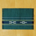 草木染め手織ミンサーテーブルセンター グリーン