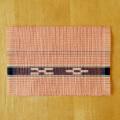 草木染め手織ミンサーテーブルセンター ピンク