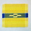 草木染め手織ミンサーコースター #09