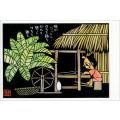 熊谷溢夫の切り絵ポストカード #005