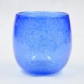 琉球ガラス/泡入・タル型 青