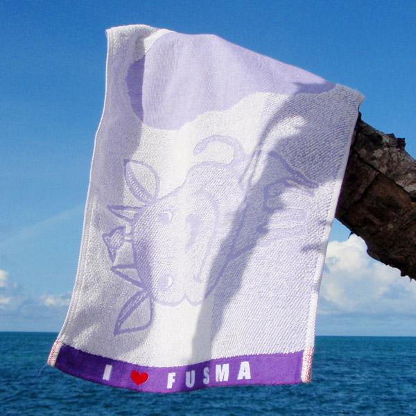 黒島キャラクタータオル I LOVE FUSMA