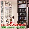 天井つっぱりサブカルラック JAJAN コレクションディスプレイシリーズ フィギュアケースと本棚の融合