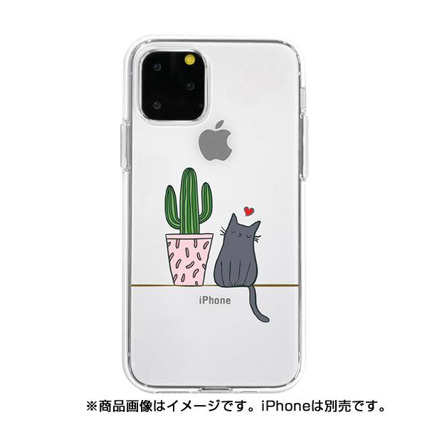 【KS】【新品】Dparks iPhone11 Pro Max ソフトクリアケース サボテンと猫 [DS17287i65R] R021615◆
