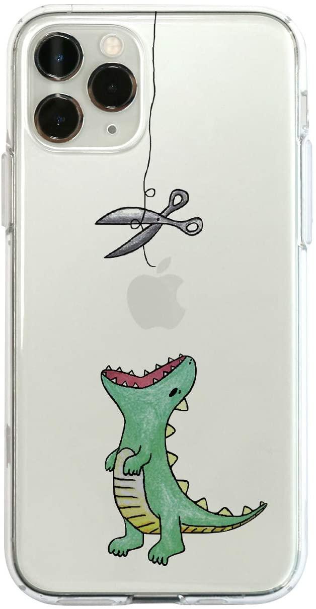 【KS】【新品】 Dparks iPhone 11 Pro Max ソフトクリアケース ファンタジー はらぺこザウルス グリーン DS17288i65R ∞ R021616-G