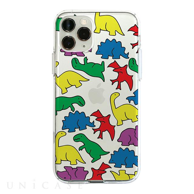 【KS】【新品】 Dparks iPhone 11 Pro Max ソフトクリアケース カラフルザウルス DS17296i65R ∞ R021623-O