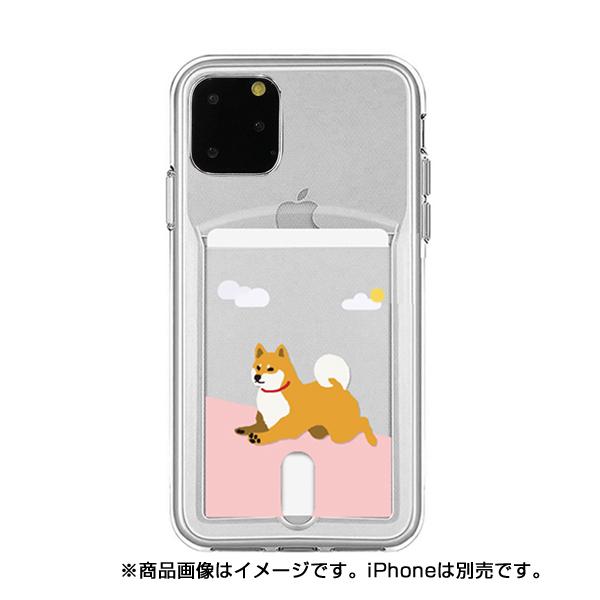 【KS】【新品】abbi Friends iPhone11 Pro 柴田さん カードクリアケース ジャンプ [ABF17084i58R] R021627◆