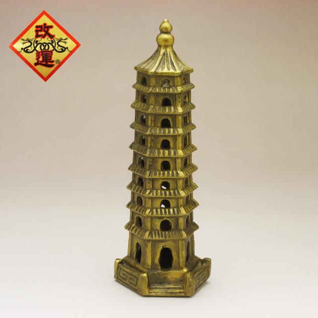 ◆改運◆銅製・九層文昌塔(f50011)