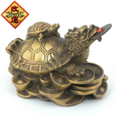 【改運】銅製の龍亀(ロングイ)小【送料無料】(f20101)