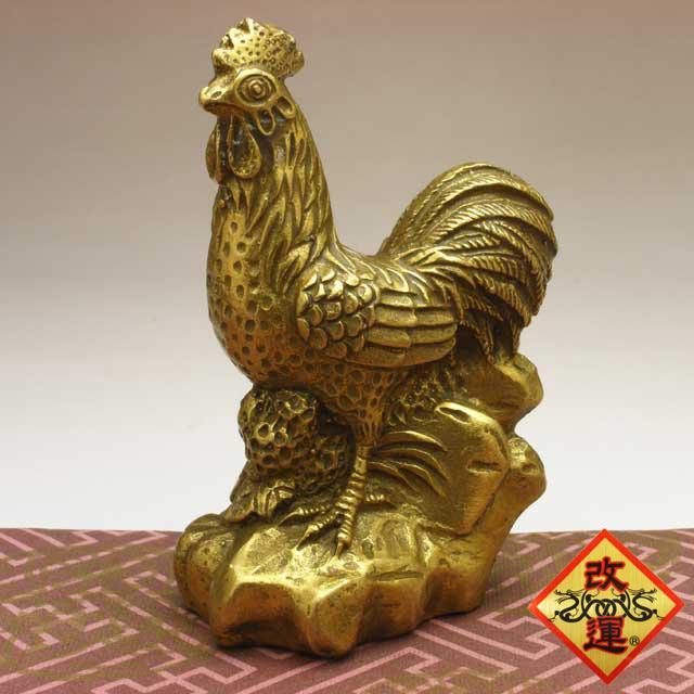 【改運】鶏の置物(小)(f50010)