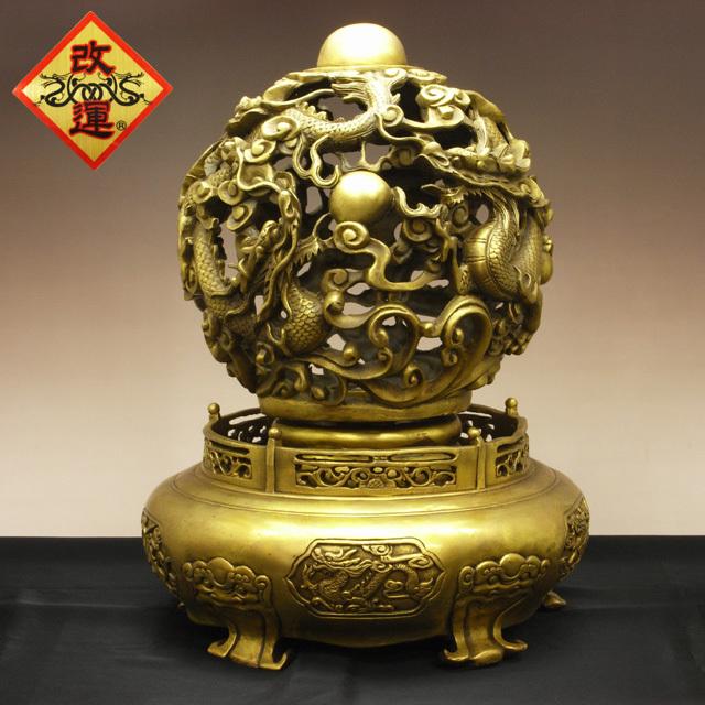 【改運】乾坤照寶の置物【送料無料】(f50065)(風水の龍、龍の置物)