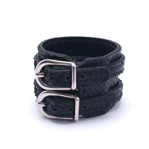 Snake W-rap Wristband - BK