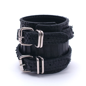 Snake W-rap Wristband (wide) - BK