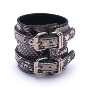 Snake W-rap Wristband (wide) WH