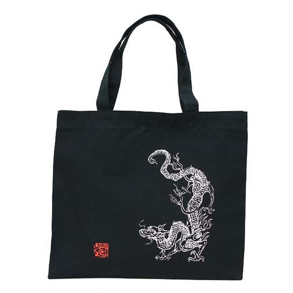 JAPO-RHYTHM青龍図 和柄トートバック(黒)