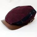【数量限定】ハンチング/伊予かすり「コーデュロイワイン×黒紫かすり」2