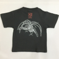 子供・半袖和柄Tシャツ「鳳凰図」(墨黒 濃グレー)