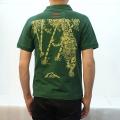 【オープンセール・数量限定】和柄抜染ポロシャツ「竹虎図」(グリーン)