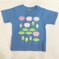 子供・半袖和柄Tシャツ「蓮」(サックス)