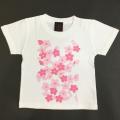 子供・半袖和柄Tシャツ「桜色」(白)