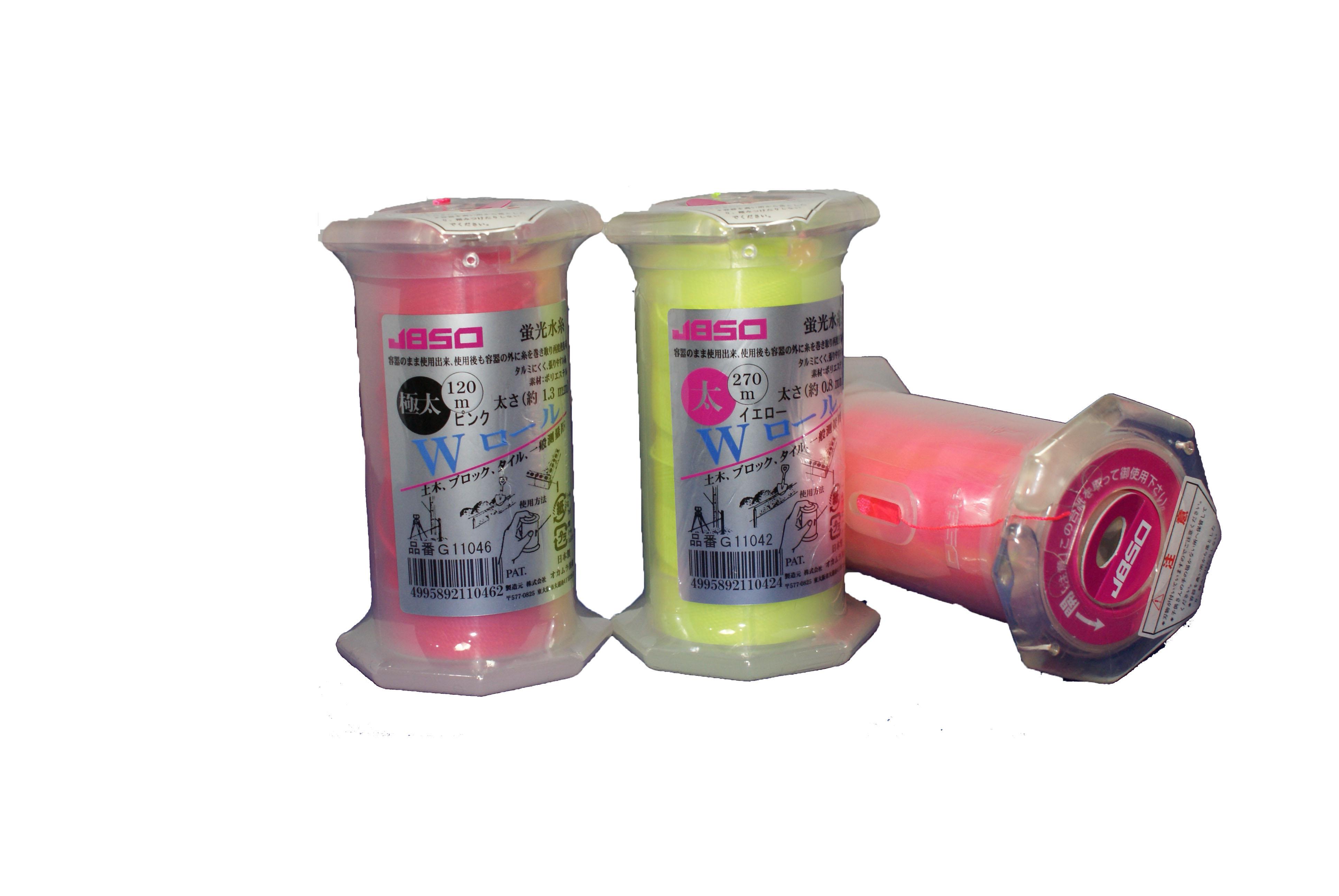 蛍光水糸 Wロール 日本製