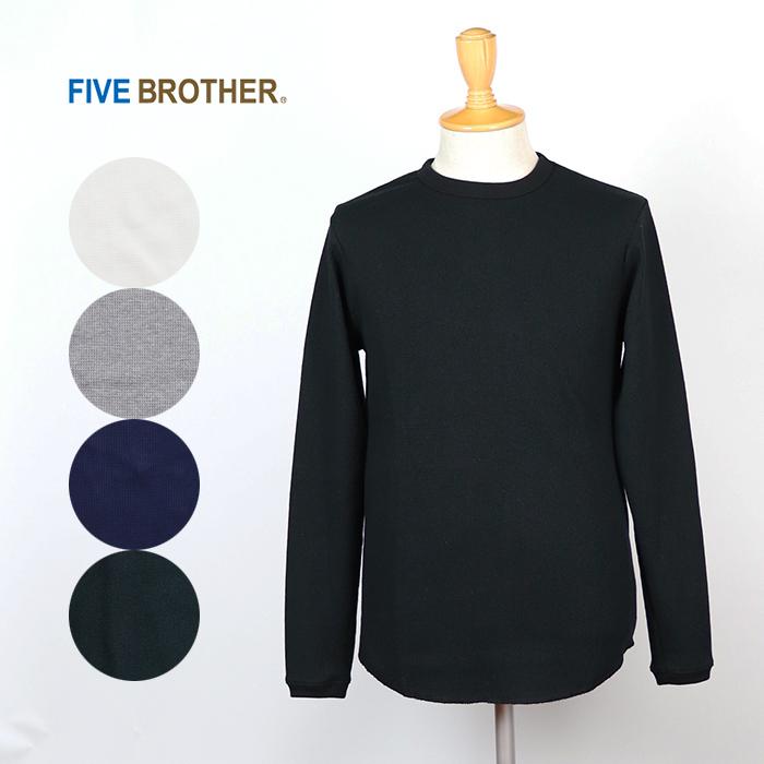 FIVE BROTHER/ファイブブラザー サーマル クルーネック長袖Tシャツ 1518001