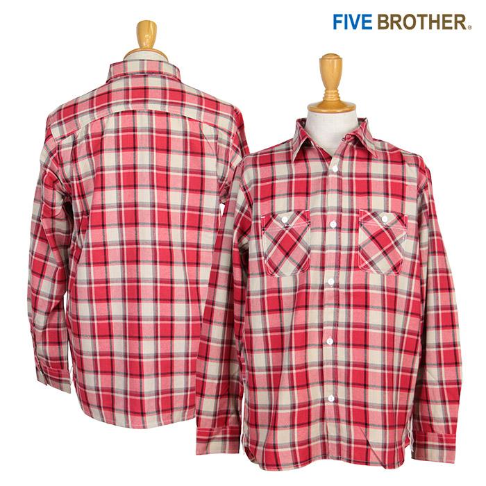 FIVE BROTHER,ファイブブラザー,ネルシャツ,152000