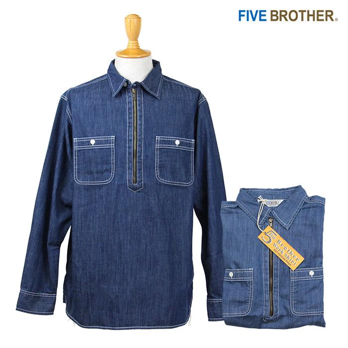 FIVE BROTHER,ファイブブラザー,デニム,ワークシャツ,152164D