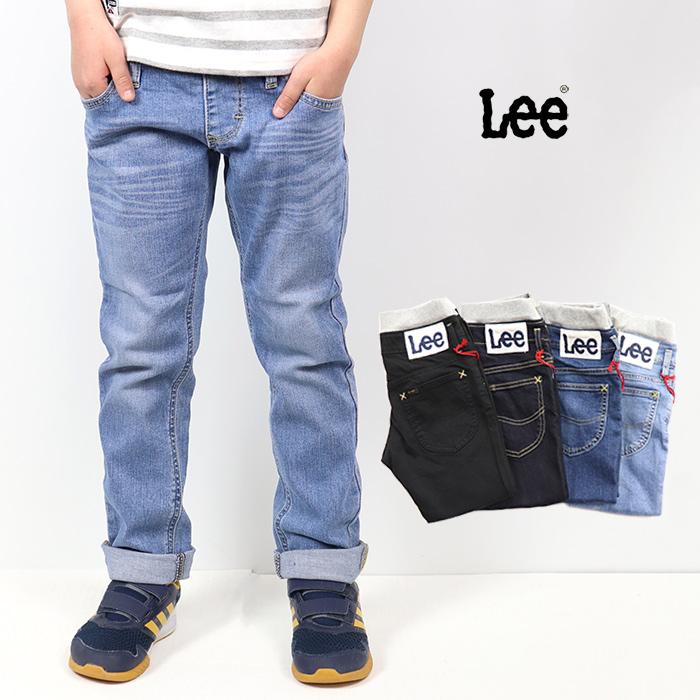 Lee リー キッズ AMERICAN BASIC キッズ ベーシック リブ ストレッチテーパード ジーンズ LK6211