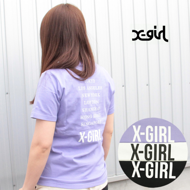 X-girl/エックスガール CITIES S/S REGULAR TEE 05191107