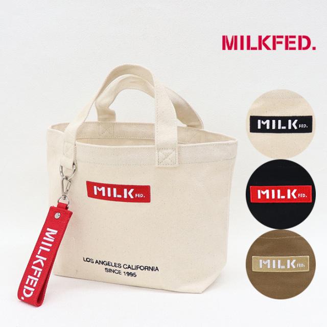 MILKFED ミルクフェド  BAR AND UNDER LOGO LUNCH TOTE ロゴランチトート  103201053015