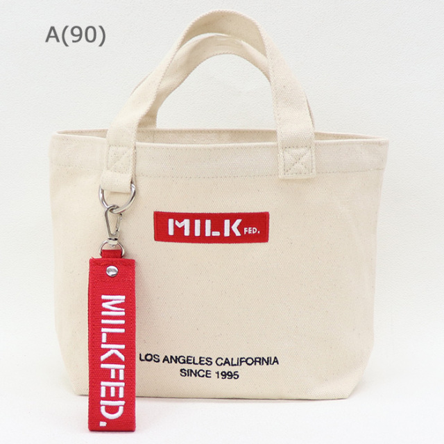 MILKFED ミルクフェド   BAR AND UNDER LOGO LUNCH TOTE ロゴランチトート   103201053015