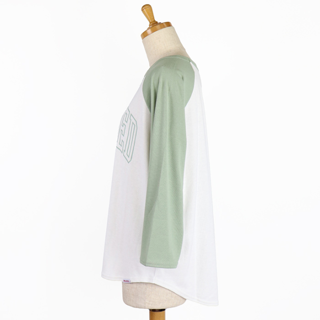 MILKFED ミルクフェド ARCH LOGO RAGLAN TOP レディース 七分袖ロゴTシャツ 103211013025