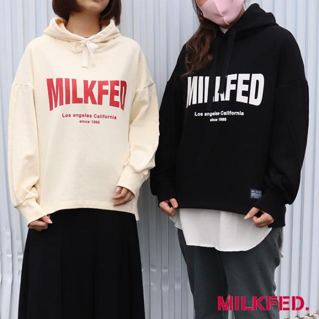 MILKFED ミルクフェド PANELED SWEAT HOODIE MILKFED. スウェットパーカー 103213012019